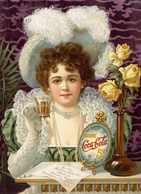 a vintage ad for Coca-Cola