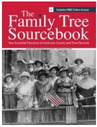 "photo of the genealogy book ""The Family Tree Sourcebook"""