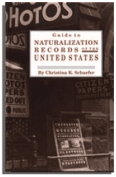 "photo of the genealogy book ""Guide to Naturalization Records in the United States"""