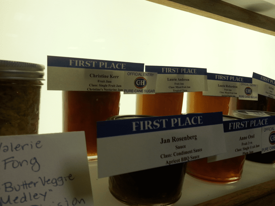 photo of first-place jams at the California State Fair