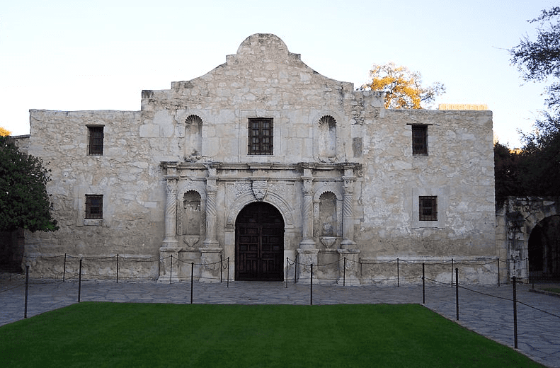 photo of the Mission San Antonio, aka the Alamo, Texas