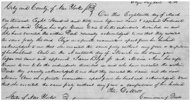 photo of Cattaraugus County, New York, land records, 1841-1845