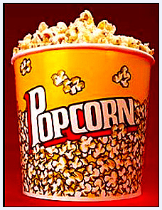 photo of a bucket of popcorn