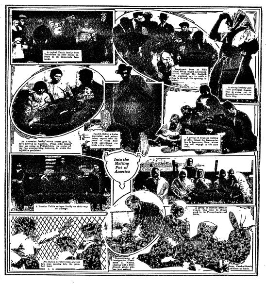 photos of immigrants, Anaconda Standard newspaper article 26 December 1920