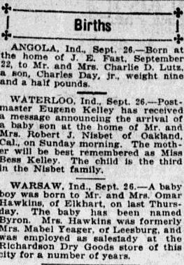 birth announcement in newspaper