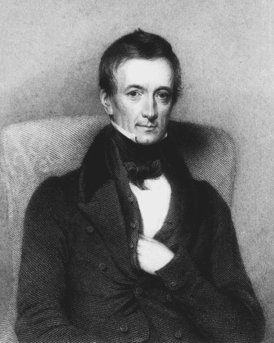 portrait of Peter Mark Roget by Thomas Pettigrew, 1843