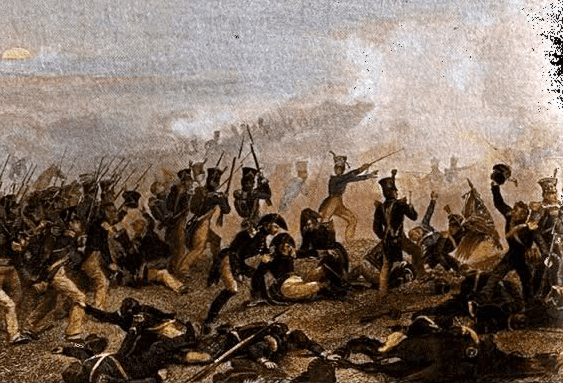 "Painting: ""American Infantry Attacks at Lundy's Lane,"" by Alonzo Chappell, 1859"