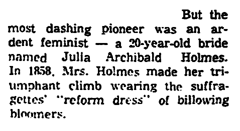 article about Julia Archibald Holmes, Trenton Evening Times newspaper article 24 August 1961