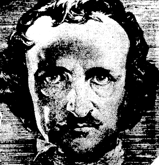 portrait of Edgar Allan Poe, Evening Star newspaper article 18 January 1931