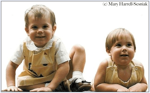 photo of the Harrell-Sesniak twins