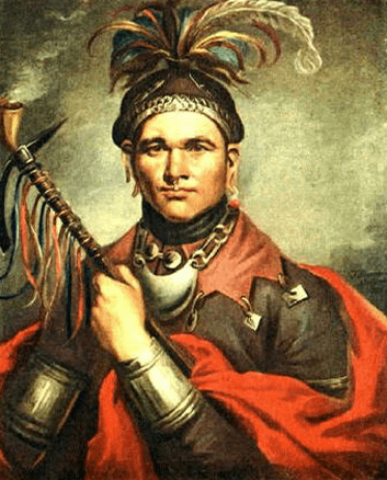 painting of the Seneca Chief Cornplanter by F. Bartoli, 1796