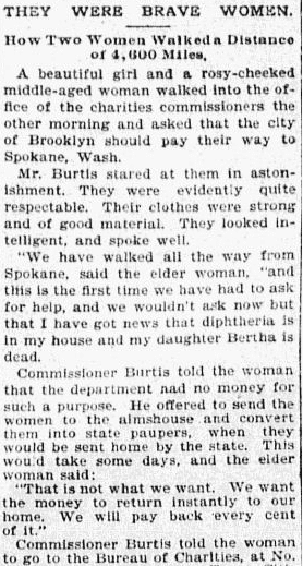 They Were Brave Women (Helga and Clara Estby), Omaha World Herald newspaper article 7 May 1897