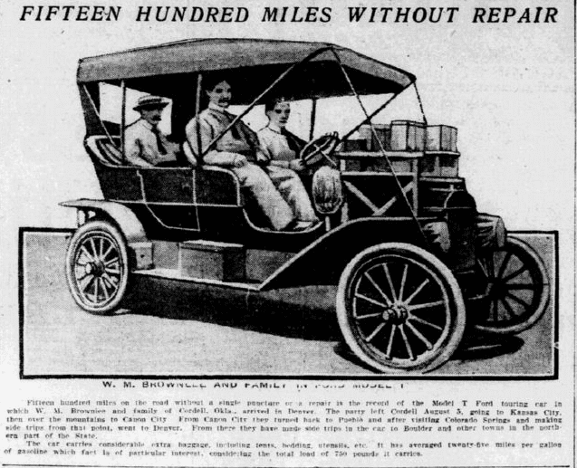 article about the Ford Model T car, Philadelphia Inquirer newspaper article 5 September 1909