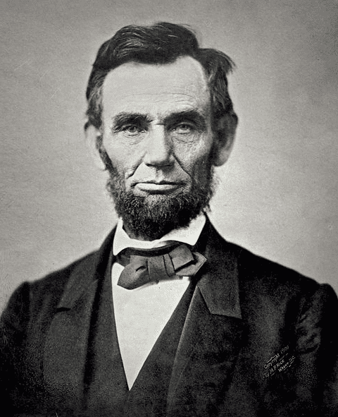 photo of President Abraham Lincoln, 8 November 1863, 11 days before delivering the Gettysburg Address