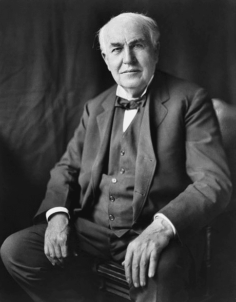 photo of Thomas Alva Edison, by Louis Bachrach, c. 1922