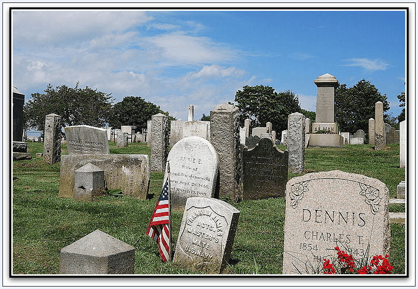 photo of the Common Burying Ground and Island Cemetery in Newport, Rhode Island