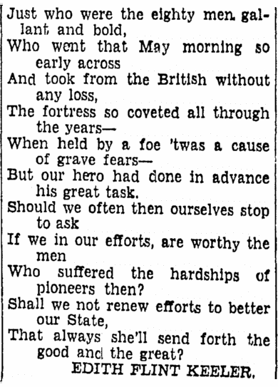 poem for Gershom Beach, Boston Herald newspaper article 29 June 1939