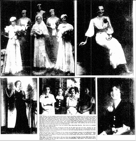 wedding photos, Heraldo de Brownsville newspaper article 9 August 1936