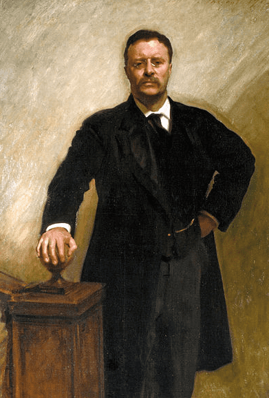 Painting: President Theodore Roosevelt; official White House portrait by John Singer Sargent, 1903
