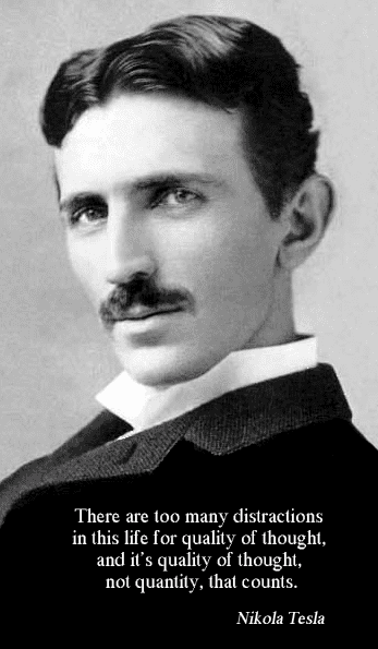 photo of Nikola Tesla in 1890, age 34