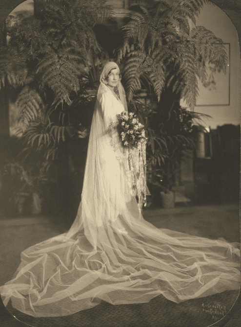 photo of a bride in her wedding dress