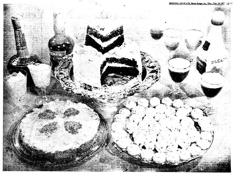 photo of desserts for Valentine's Day, Advocate newspaper article 10 February 1977