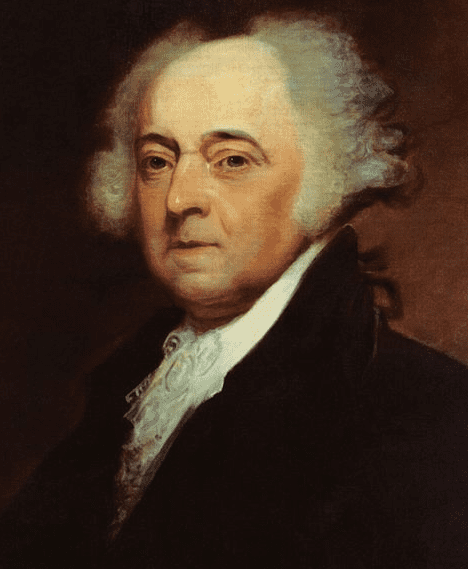 portrait of John Adams, 2nd president of the United States, by Asher B. Durand