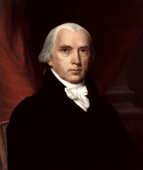 portrait of James Madison by John Vanderlyn, 1816