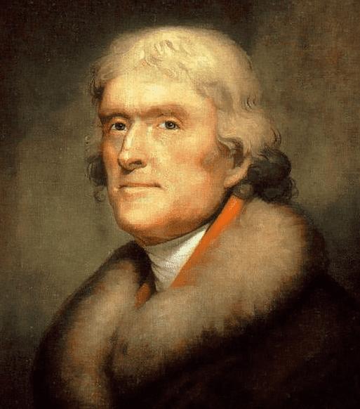 portrait of Thomas Jefferson by Rembrandt Peale, 1805