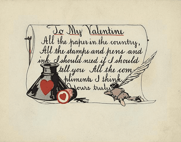 photo of an early Valentine's Day card