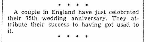 wedding anniversary announcement, Lexington Herald newspaper article 13 June 1938