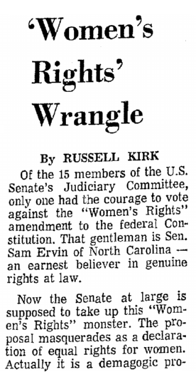 editorial opposing the Equal Rights Amendment, Mobile Register newspaper article 23 March 1972