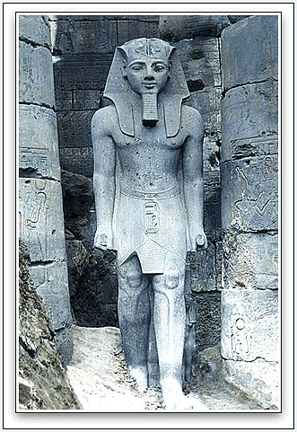 photo of a statue of Egyptian Pharaoh Ramesses II