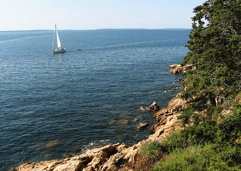 photo of the coast of Maine near Acadia National Park