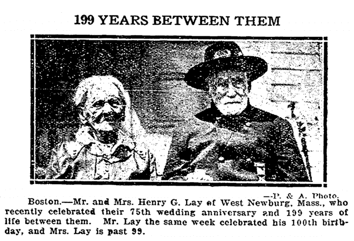 wedding anniversary announcement for Mr. and Mrs. Henry Lay, Repository newspaper article 20 January 1924