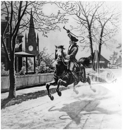 "Illustration: ""The Midnight Ride of Paul Revere"""