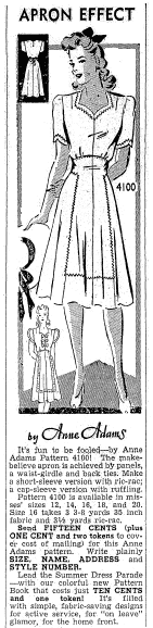 dress pattern, Morning Olympian newspaper article 2 June 1942