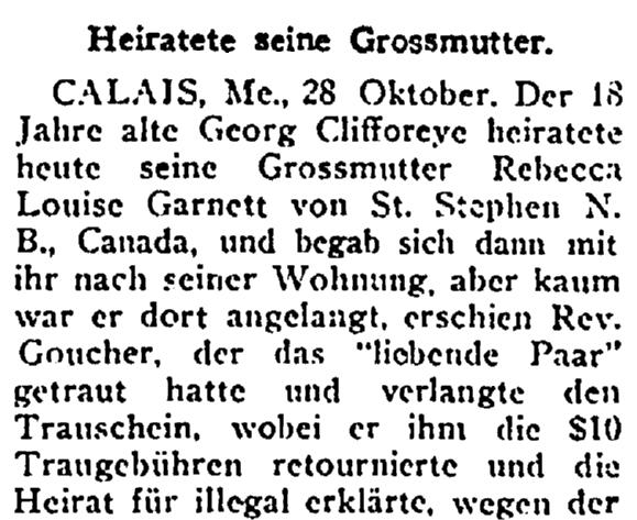 wedding announcement, New Yorker Volkszeitung newspaper article 29 October 1922