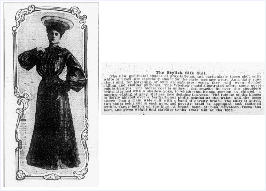 fashion article about Maltese lace, Omaha World Herald newspaper article 19 June 1904
