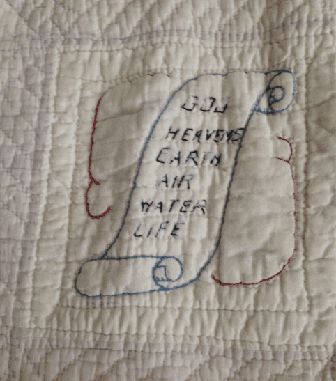 photo of a quilt block from the Bible History Quilt