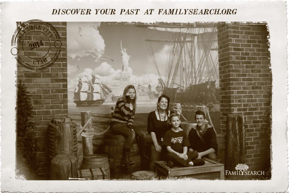 photo of Duncan Kuehn and her three children