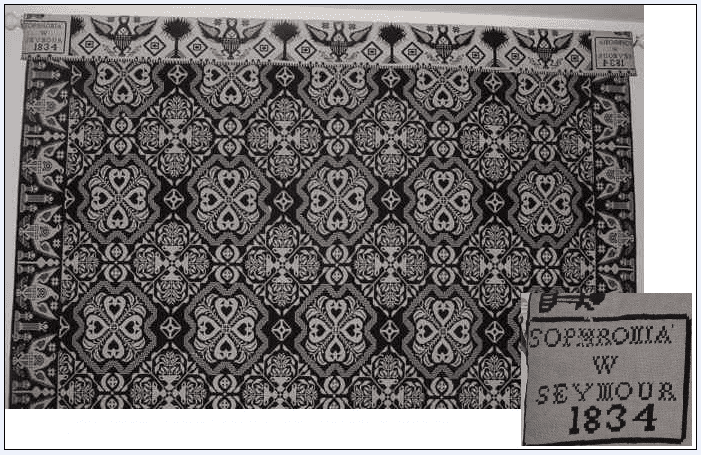 photo of a family coverlet from the Harrell-Sesniak photo collection