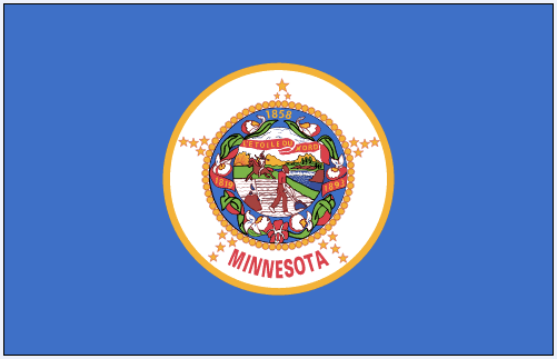 illustration of the state flag of Minnesota