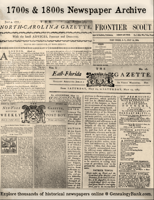 Massive 1700s-1800s Newspaper Collection Added to ...