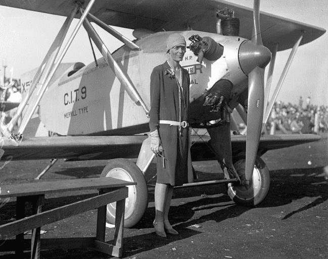 photo of Amelia Earhart, c. 1928
