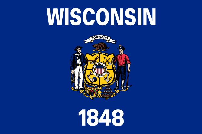 illustration of the state flag of Wisconsin