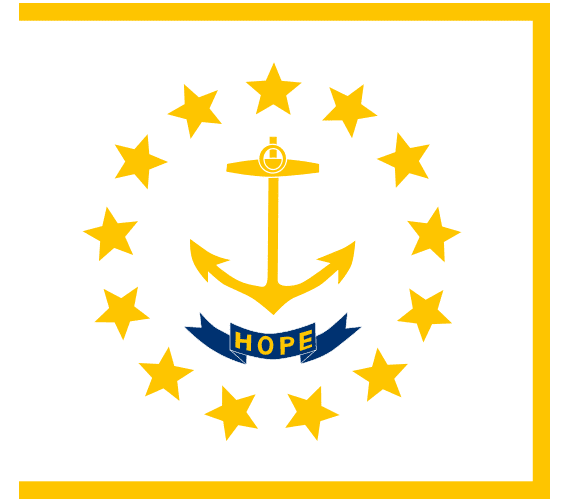 illustration of the state flag of Rhode Island