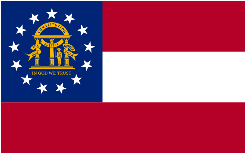 illustration of the state flag of Georgia