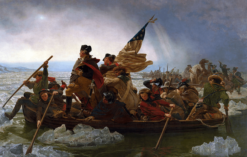 "Painting: ""Washington Crossing the Delaware,"" by Emanuel Leutze (1851)"