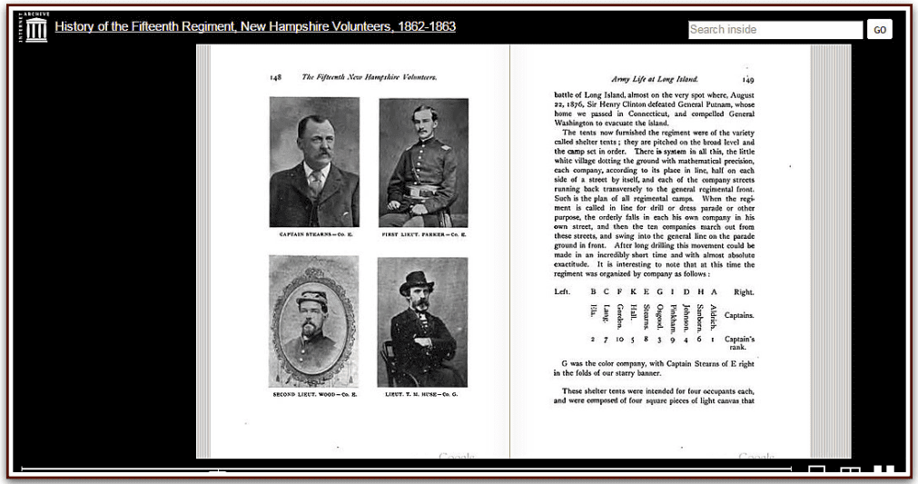 screenshot from the website Internet Archive Book Images showing a photo of Thomas Huse